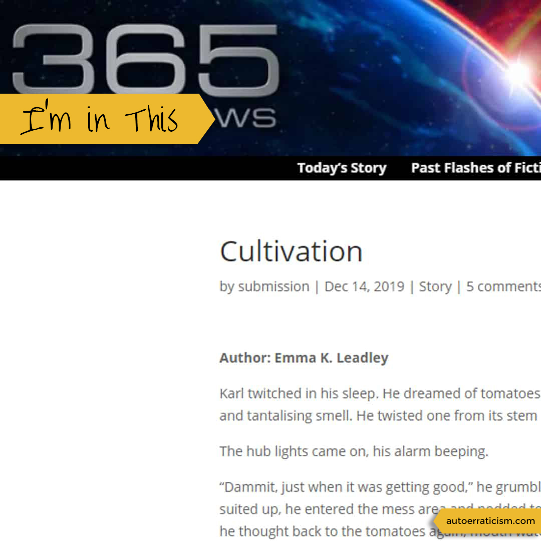 Cultivation, published by 365 Tomorrows