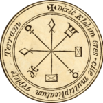Image of round talisman coin to illustrate text